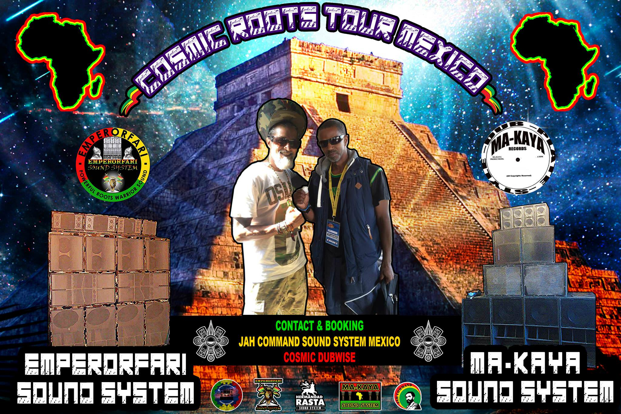 EMPERORFARI & MA-KAYA AFRICAN ROOTS MEXICO TOUR 2017 WITH JAH COMMAND
