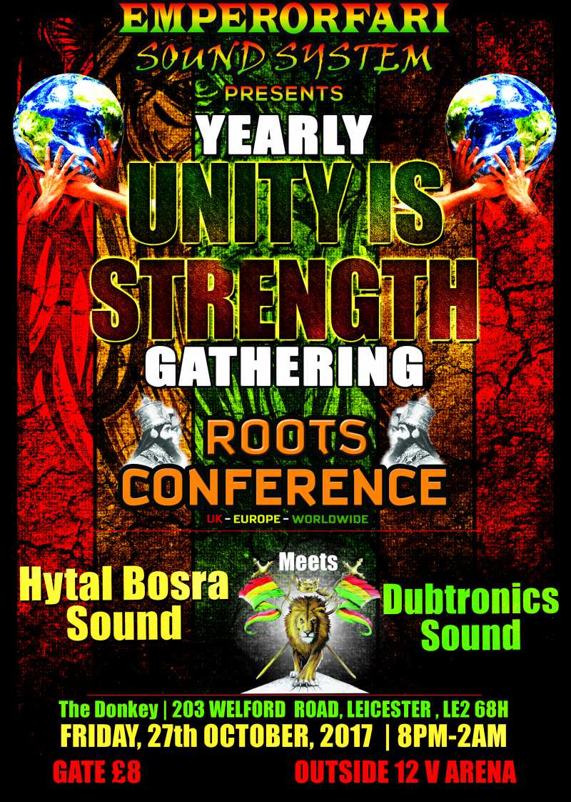 """HYTAL BOSRAH MEETS DUBTRONICS ROOTS CONFERENCE YEARLY """"UNITY IS STRENGTH"""" GATHERING"""