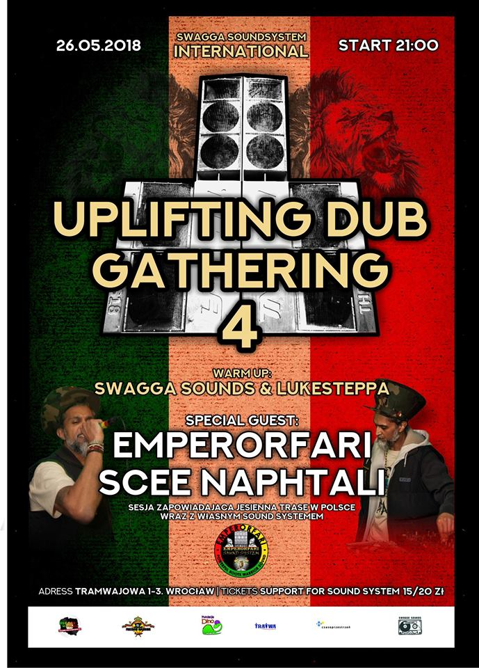 UPLIFTING DUB GATHERING 4 – EMPERORFARI PLAYS IN POLAND WROCLOW WITH SWAGGA SOUNDS
