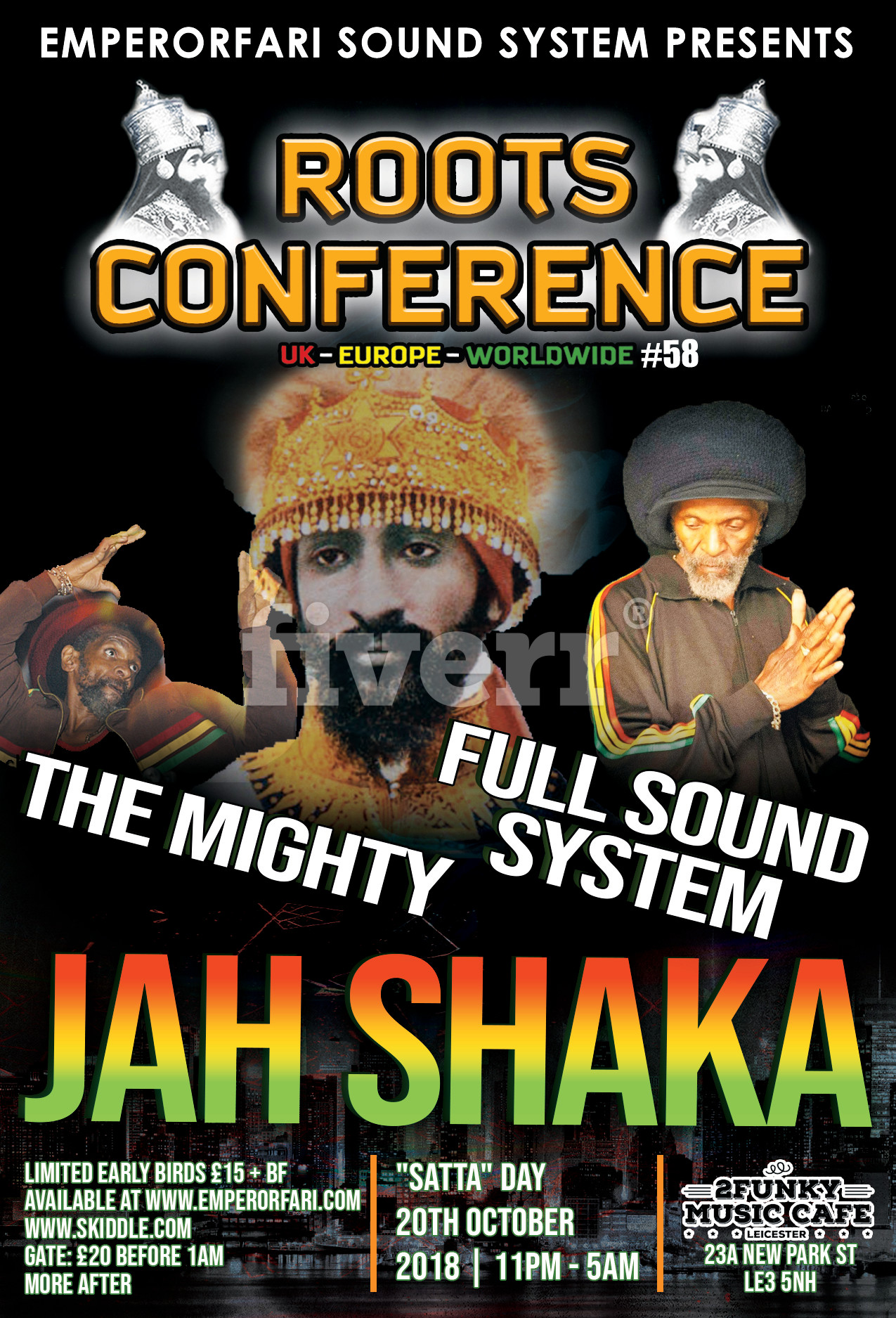 ***JAH SHAKA*** WITH FULL SOUND SYSTEM – ROOTS CONFERENCE #58