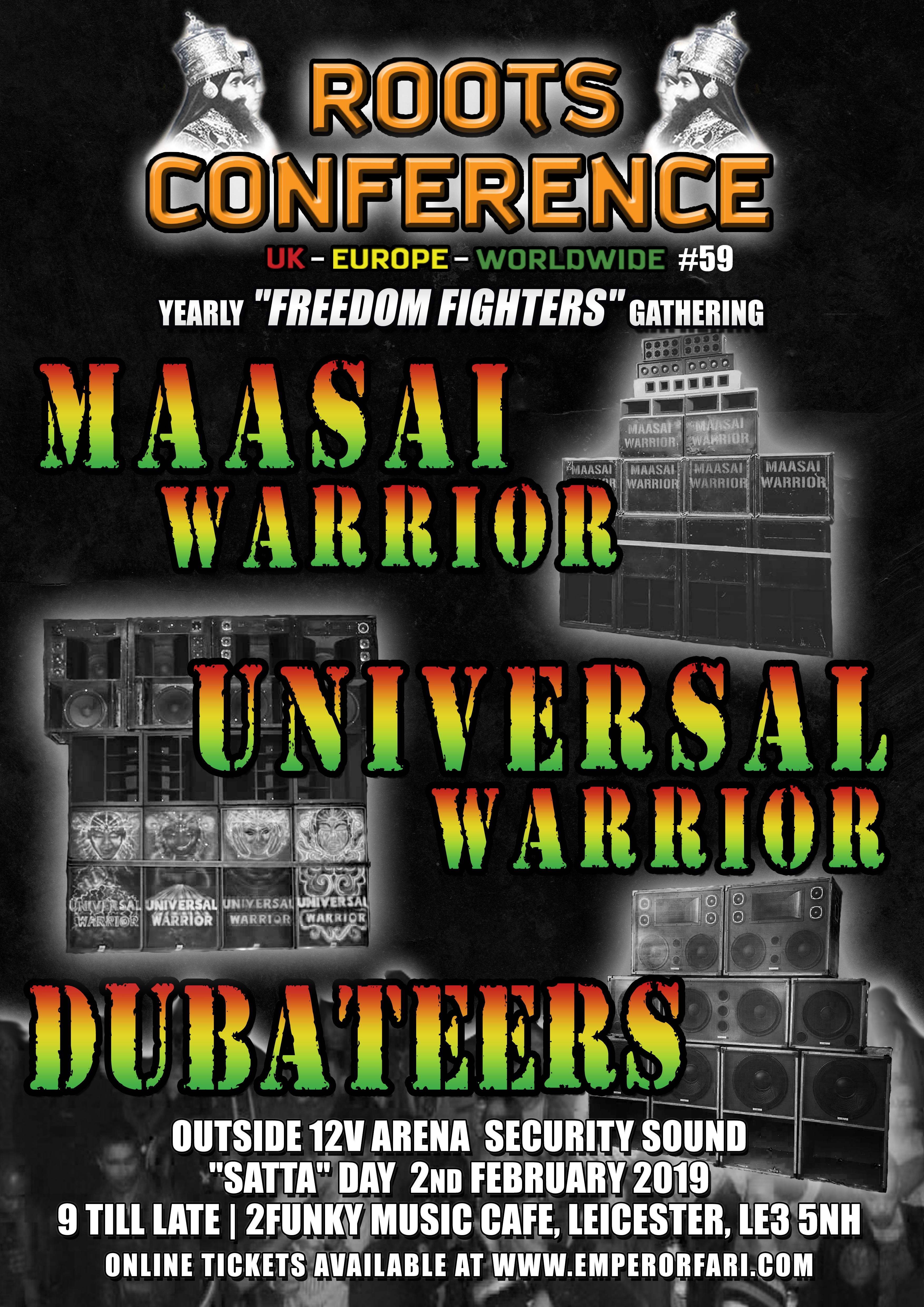 Maasai Warrior*Universal Warrior*Dubateers*12v Security